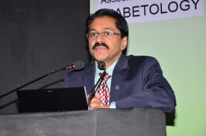 Dr. Jothydev Kesavadev delivering his lecture on Role of Basal insulin in Diabetes Therapy