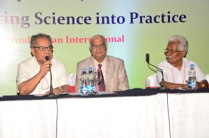 Dr. Sukumar Mukherjee,Prof. V. Seshiah and Dr. R.K. Duttaray delivering lecture on My journey from single test onwards